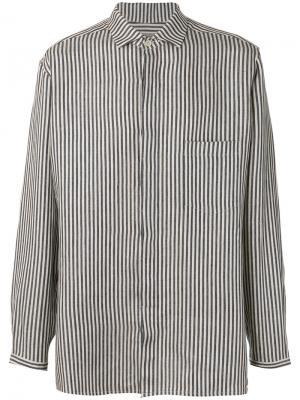 Полосатая рубашка Yohji Yamamoto. Цвет: серый