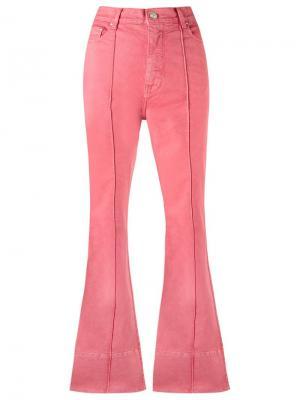 Расклешенные брюки с завышенной посадкой Amapô. Цвет: розовый и фиолетовый