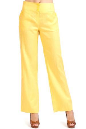 Брюки Isaco & Kawa. Цвет: желтый