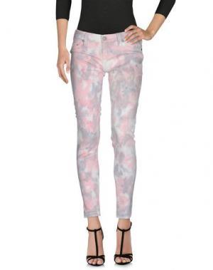 Джинсовые брюки TRUE RELIGION. Цвет: розовый