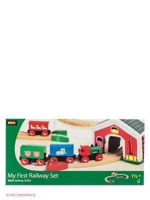 Игровой набор BRIO. Цвет: зеленый, бежевый
