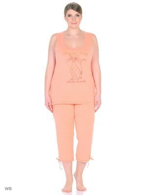 Пижама erteks. Цвет: персиковый