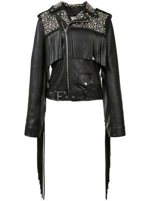 Байкерская куртка с заклепками Rodarte. Цвет: чёрный