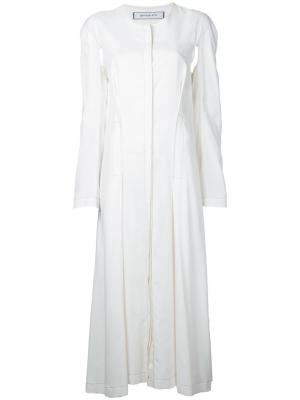 Платье duster Eckhaus Latta. Цвет: белый