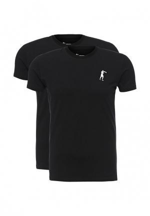 Комплект футболок 2 шт. Boxeur Des Rues. Цвет: черный