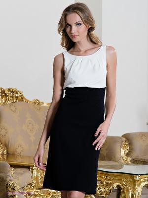 Платье Comma. Цвет: черный, белый