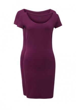 Комплект платьев 2 шт. oodji. Цвет: фиолетовый