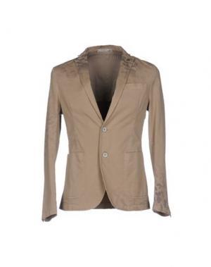 Пиджак MANUEL RITZ WHITE. Цвет: бежевый