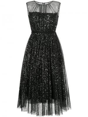 Декорированное вечернее платье Dice Kayek. Цвет: чёрный