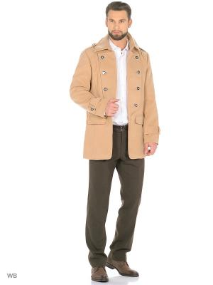 Пальто VipDressCode. Цвет: бежевый