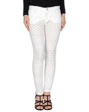 Повседневные брюки LUCA TAIANA. Цвет: белый