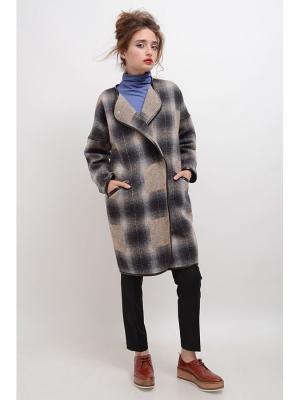 Пальто Жасмин-2 LINO RUSSO. Цвет: серо-коричневый