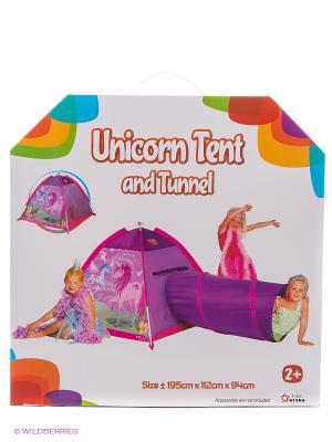 Палатка с туннелем Волшебный единорог Five Stars. Цвет: фиолетовый