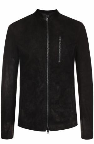 Кожаная куртка на молнии Isabel Benenato. Цвет: черный