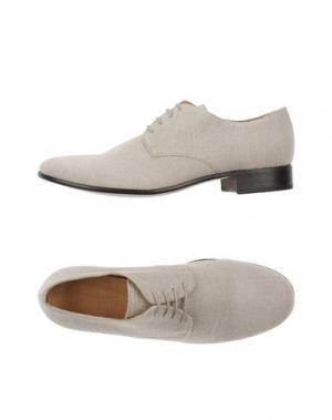 Обувь на шнурках 01000010 BY BOCCACCINI. Цвет: светло-серый
