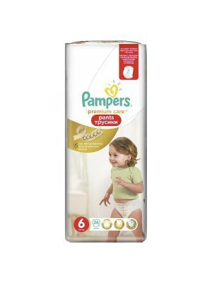 Трусики Premium Care Pants 16кг+, размер 6, 36 шт. Pampers. Цвет: золотистый
