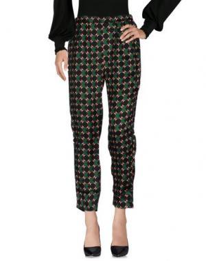 Повседневные брюки NONYME. Цвет: изумрудно-зеленый