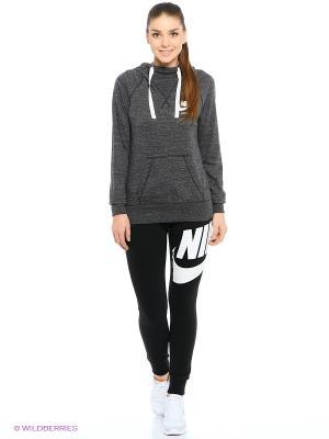 Худи W NSW GYM VNTG HOODIE Nike. Цвет: серый, темно-серый, бронзовый