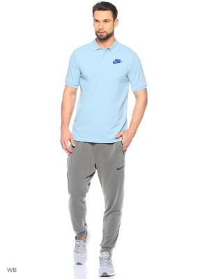 Футболка-поло M NSW POLO PQ MATCHP Nike. Цвет: голубой