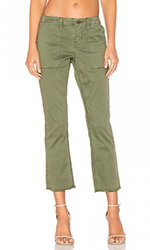 Укороченные брюки peace Sanctuary. Цвет: оливковый