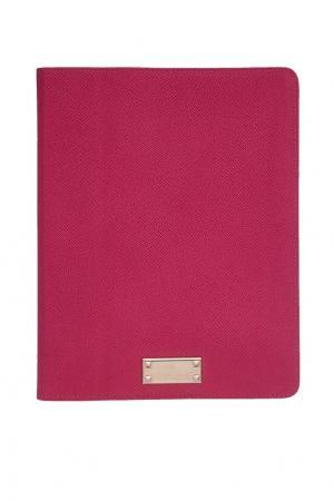 Кожаный чехол для iPad Valentino. Цвет: розовый