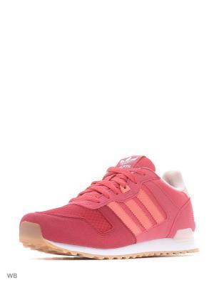 Кроссовки дет. спорт. ZX 700 J  CRAPNK/RAYPNK/FTWWHT Adidas. Цвет: розовый, белый, фуксия