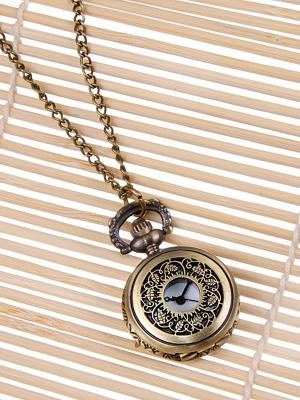 Кулон-часы Медальон с листьями Mitya Veselkov. Цвет: бронзовый