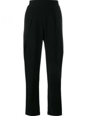 Креповые брюки со шлицей сбоку Jonathan Simkhai. Цвет: чёрный
