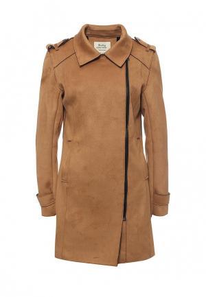 Пальто Softy. Цвет: коричневый