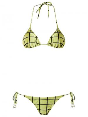 Triangle bikini set Adriana Degreas. Цвет: зелёный