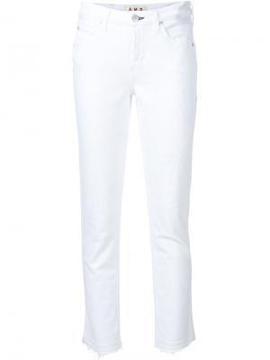 Укороченные джинсы с необработанными краями Amo. Цвет: белый