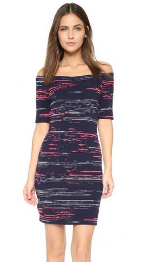 Мини-платье Electra Amanda Uprichard. Цвет: серебристый/черный