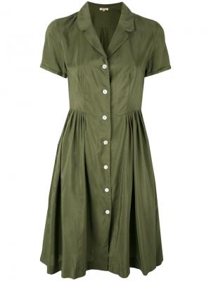 Buttoned shirt dress Bellerose. Цвет: зелёный
