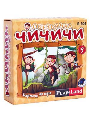 Карточная игра  Обезьянка Чичичи PLAY LAND. Цвет: коричневый, зеленый, красный