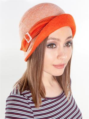 Шляпка LORICCI. Цвет: белый, оранжевый