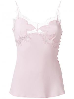 Топ с кружевом Antonio Berardi. Цвет: розовый и фиолетовый