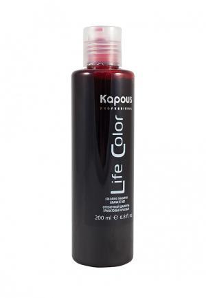 Шампунь оттеночный Kapous. Цвет: бордовый