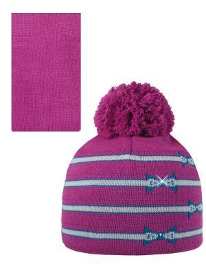 Шапка, шарф Pro-han. Цвет: малиновый, зеленый, серый
