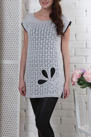 Туника Текстильная Мануфактура. Цвет: серый