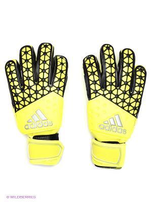 Перчатки Ace Half Neg Adidas. Цвет: желтый