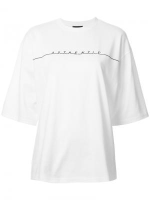 Объемная футболка с принтом G.V.G.V.. Цвет: белый