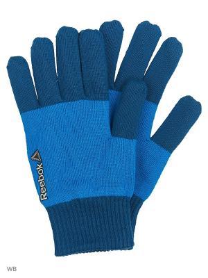 Перчатки Reebok. Цвет: синий