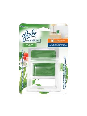Glade Освежитель воздуха АромаКристалл основной комплект Свежесть утра 8г. Цвет: зеленый