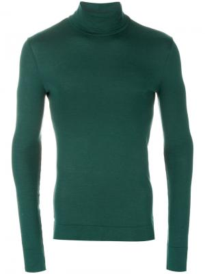 Трикотажная водолазка Calvin Klein 205W39nyc. Цвет: зелёный