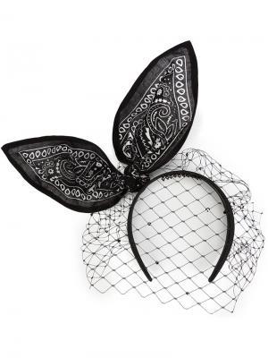 Bandana headband Piers Atkinson. Цвет: чёрный