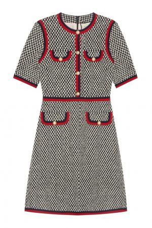 Хлопковое платье Gucci. Цвет: multicolor