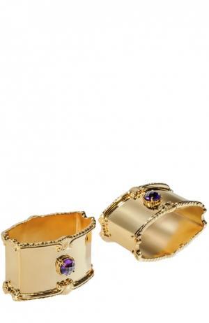 Набор из 2-х колец для салфеток Tsar. Цвет: золотой
