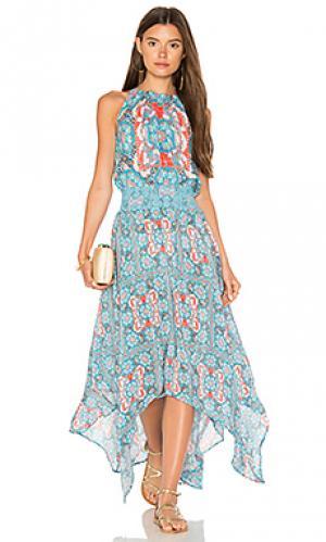 Макси платье tamara Tolani. Цвет: синий