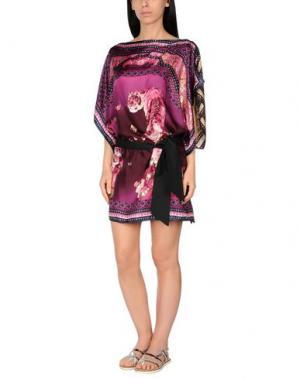 Пляжное платье ROBERTO CAVALLI BEACHWEAR. Цвет: розовато-лиловый