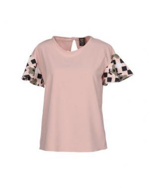 Блузка GUTTHA. Цвет: светло-розовый